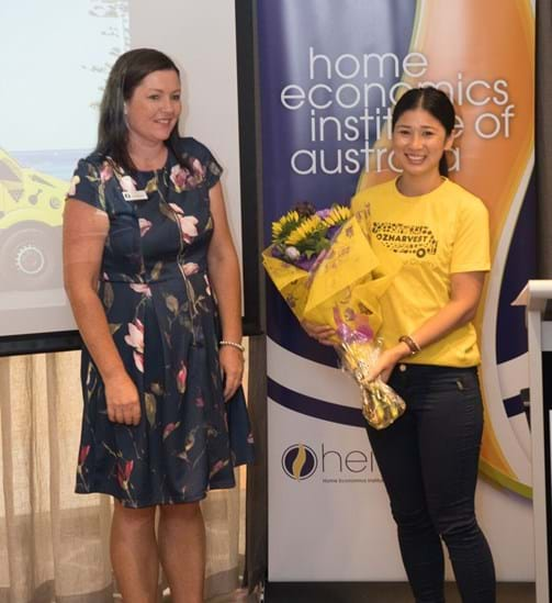 Sarah Hockey President HEIA(SA) and Cathy Tsoutouras from OzHarvest