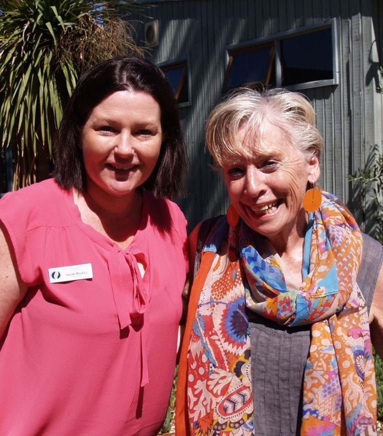 Maggie Beer with HEIA (SA) president Sarah Hockey